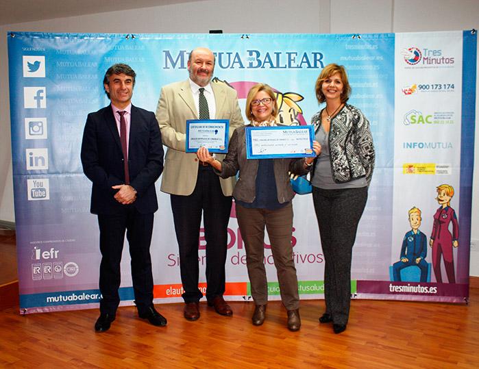 SERANCA  distinguida en Canarias  por Mutua Balear  por su contribución a la reducción  y prevención de la siniestralidad  laboral